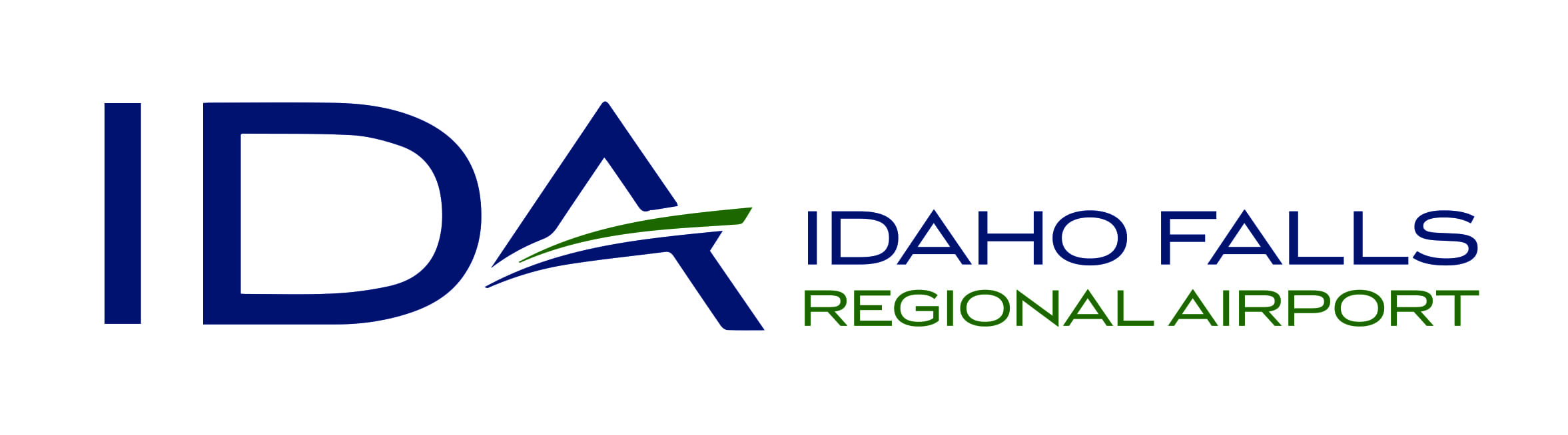 IDA Logo Horizontal With Text 2 Color. Air Service is Taking off at Idaho Falls Regional Airport!