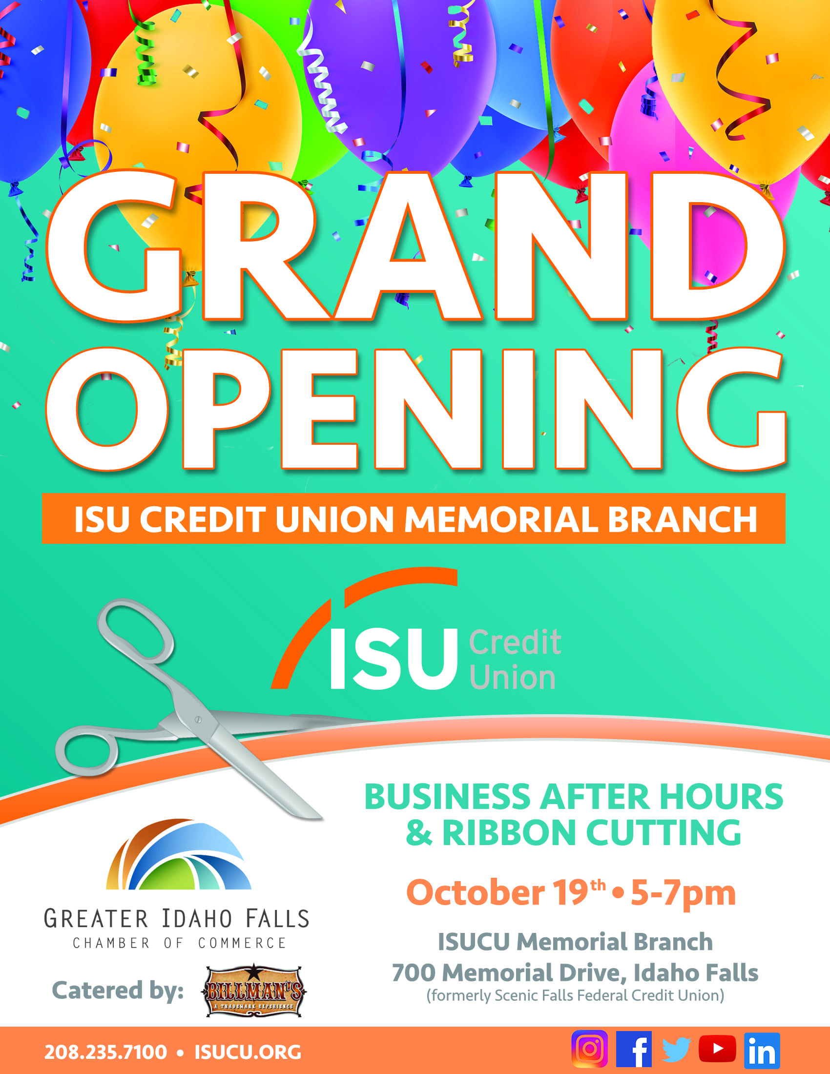 Business After Hours Isu Credit Union Idaho Falls Chamber Of Commerce